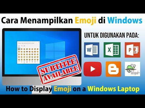 Cara Menampilkan Emoji pada Windows