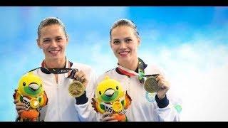 Казахстанские синхронистки сестры Немич стали бронзовыми призерами на Азиаде-2018 в Индонезии