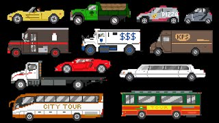 street vehicles 2 cars trucks buses the kids picture show fun educational learning video