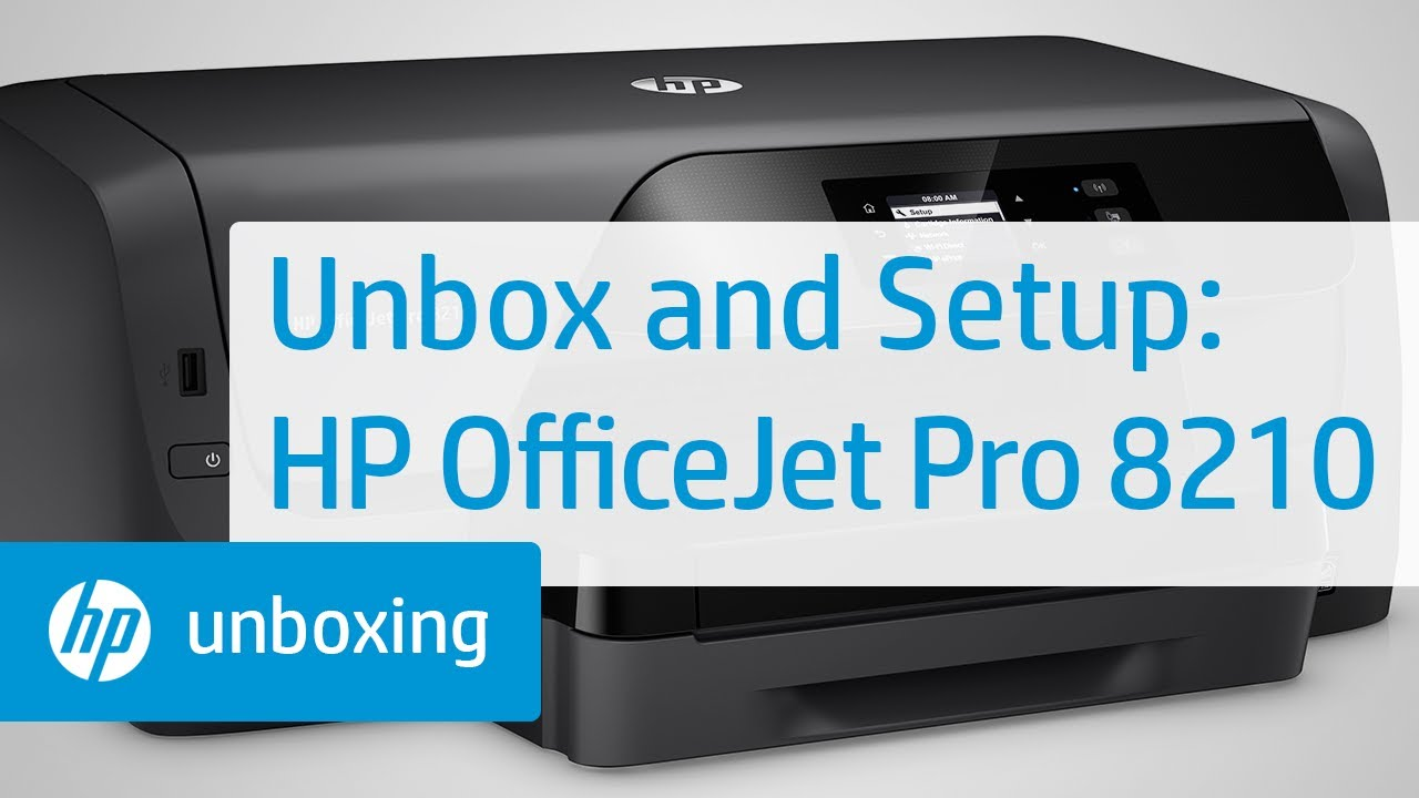 Unboxing Setting Up And Installing The Hp Officejet Pro