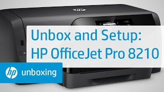 Unboxing, Setting Up, and Installing the HP OfficeJet Pro 8210 Printer | HP OfficeJet | HP