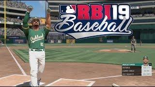 RBI Baseball 19 Gameplay - Oakland Athletics vs Chicago White Sox 6 Inning Game (PS4 Pro)