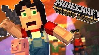 A BLOCK AND A HARD PLACE | Minecraft Story Mode Episode 4 Part 1