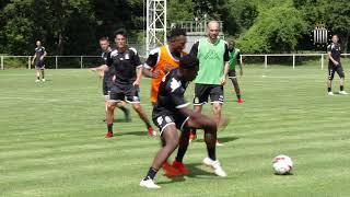 Premier entrainement pour Karim Belhocine et Frank Defays