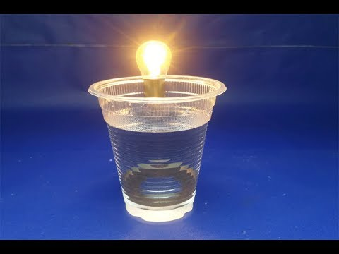 Free energy salt water & magnets with  light bulbs - Experiment  science projects at home