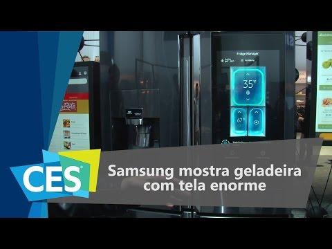 Samsung Mostra Geladeira Com Tela Enorme - CES 2016 - TecMundo