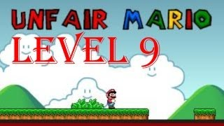 Unfair Mario all levels walkthrough/playthrough - Level 9
