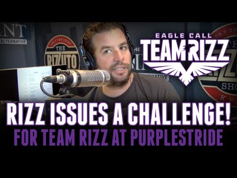 Rizz issues a challenge for TEAM RIZZ at PurpleStride 2019! [Rizzuto Show]