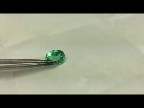 clean and natural emerald gemstone