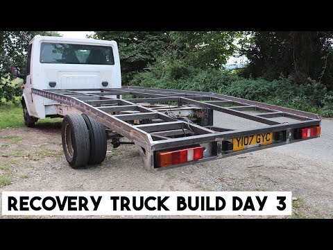 TRANSIT RECOVERY TRUCK BUILD, DAY 3. HOW TO BUILD A RAMP TRUCK.