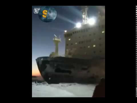 Russian nuclear icebreaker blasting by some guys