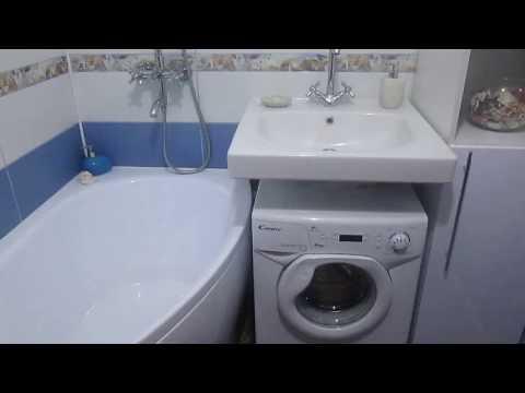 Ванная комната 1,700*1,500 в бело-синих цветах с ракушками