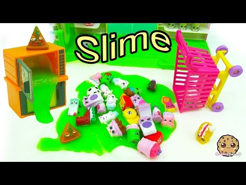 Broken Microwave Oozing Slime & Mess At Shopkins Small Mart - Grossery Gang Video