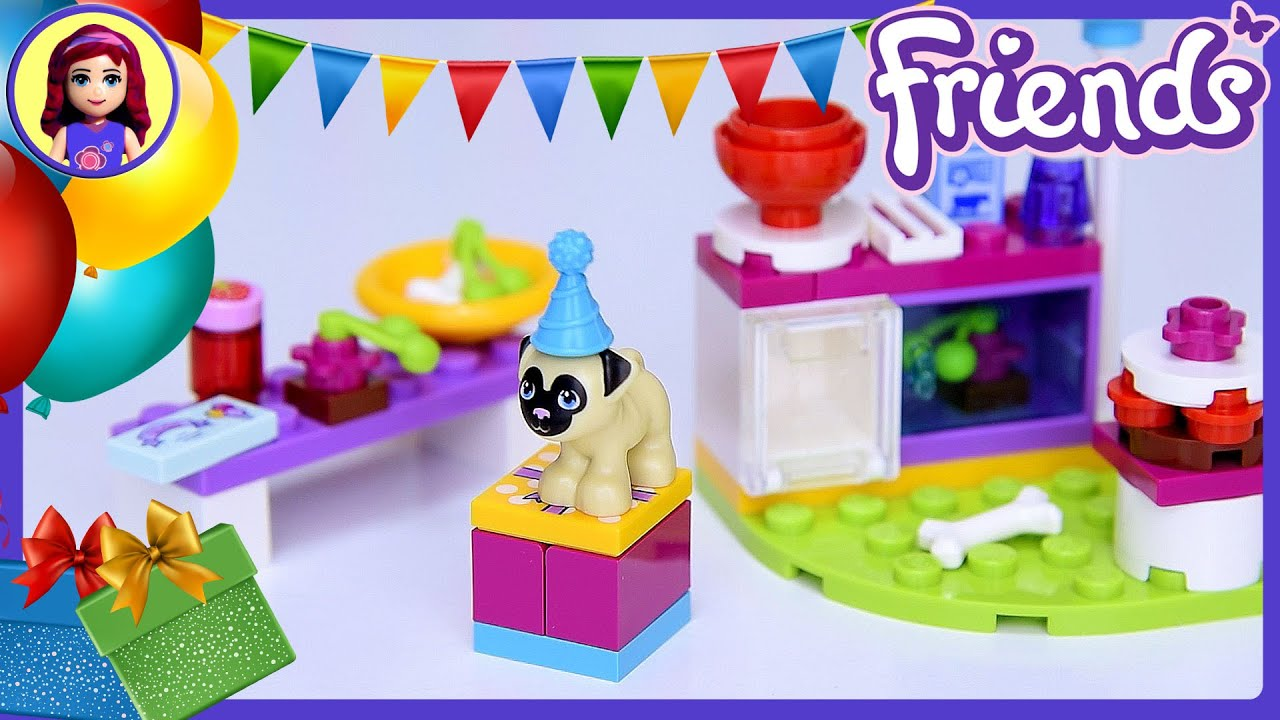 Lego Friends Birthday Party Cakes Pug Puppy Set Build Review Play