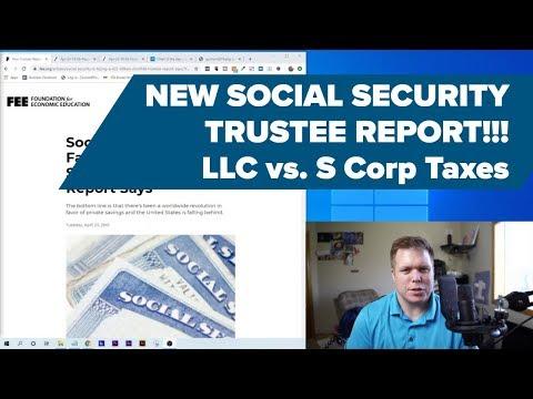 S Corp & LLC Social Security WARNING 2019