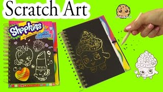 shopkins sketch surprise scratch drawing art book limited edition cupcake queen cookieswirlc