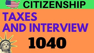 🇺🇸  Taxes and Citizenship Interview | US Citizenship Test