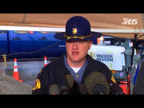 WSP and WSDOT update the situation near the crash site