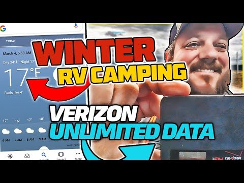Winter RV Camping Below Freezing Temps & $70 Verizon Unlimited Data Plan Review