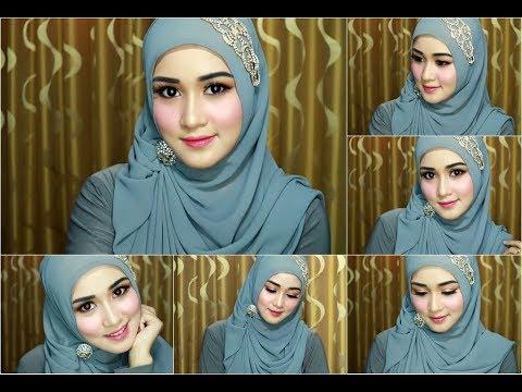 02 Tutorial Make Up Hijab Anggun Simple Dan Elegan Buat Wisuda Atau Ke Pesta Youtube