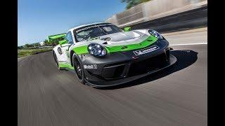 Гоночный Porsche 911 GT 3 R обзор углепластикового болида смотреть