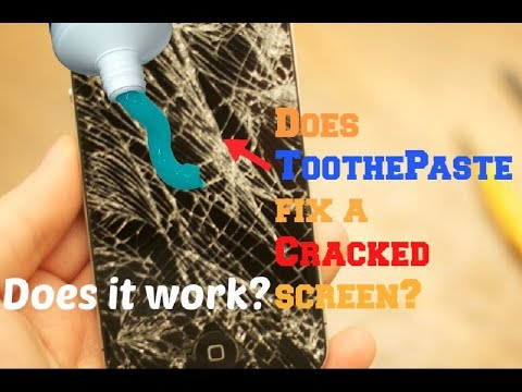 Does Toothpaste FIX a Cracked Screen?