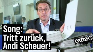 Bitte tritt zurück, Andi Scheuer!