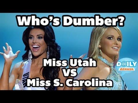 Miss Utah Pageant Answer Fail vs Miss South Carolina Dumb Answer | DAILY REHASH | Ora TV