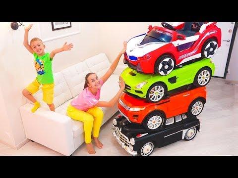 Magic Little Driver cưỡi trên Toy Cars và Transform car cho trẻ em