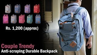 Couple Trendy Anti scraping Durable Backpack, water - scratch resistant, 9 colors (12% discount)