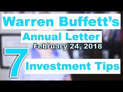 warren buffetts annual letter 7 investment tips