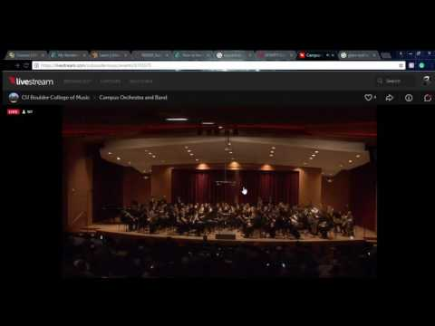 Campus Orchestra and Band on Livestream