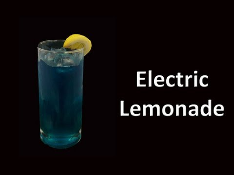 Electric Lemonade Cocktail Drink Recipe HD