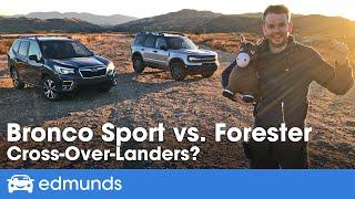 2021 Ford Bronco Sport vs. 2021 Subaru Forester | Off-Road Crossover Comparison