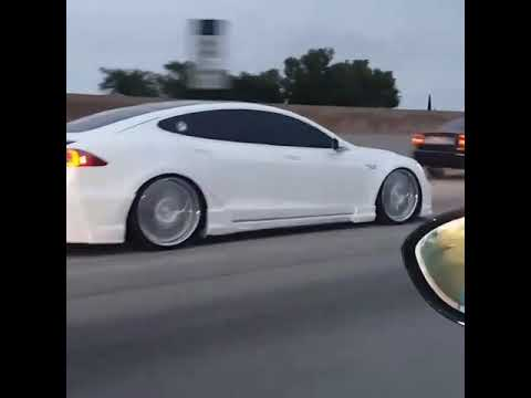 Tesla Model S Modified with lowered Ground Clearance - YouTube