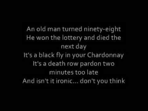 Alanis Morissette - Ironic Lyrics