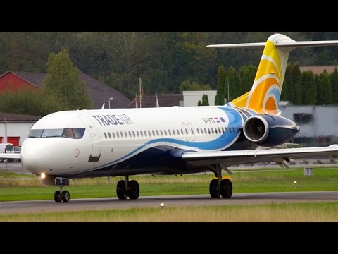 Best Looking Fokker 100 Take-Off at Bern Airport