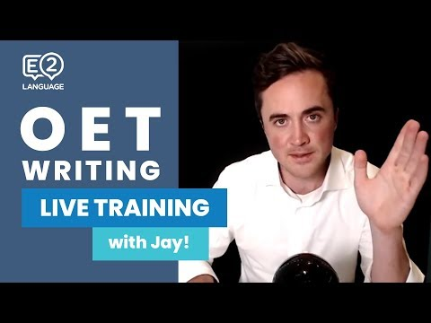 OET Writing | LIVE TRAINING with Jay!