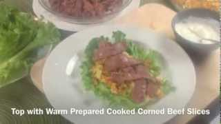 Corned Beef 'n Cabbage Salad Wraps