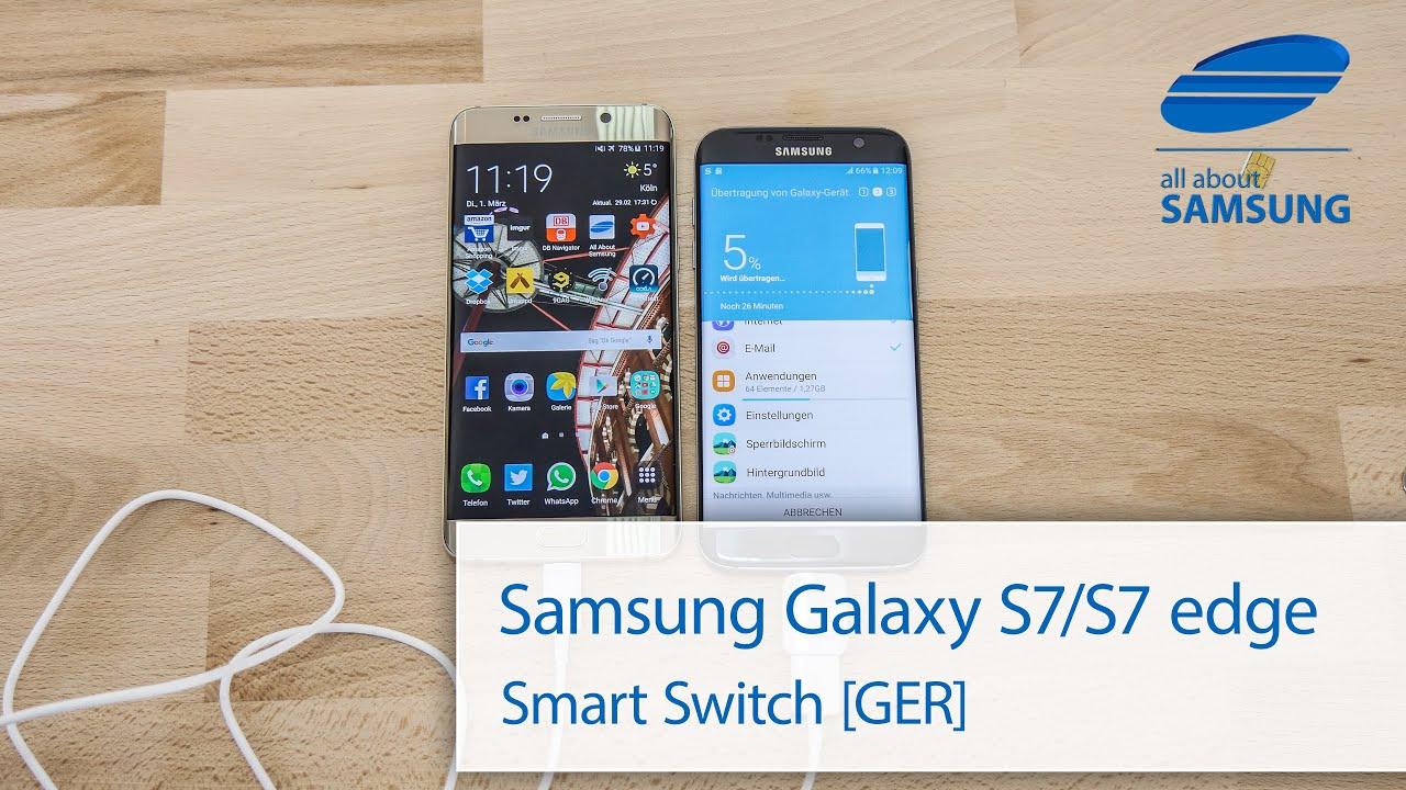 How To Use GALAXY S7 &amp- S7 Edge &quot-Smart Switch&quot- - YouTube