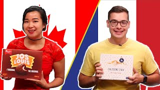 Canadian and French People Swap Snacks