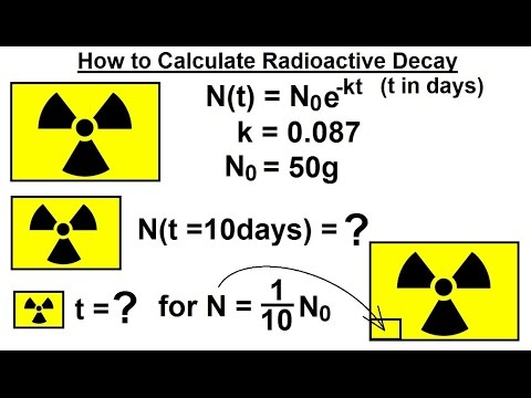 PreCalculus - Logarithmic & Exponential Functions (11 of 20) Calculating Radioactive Decay