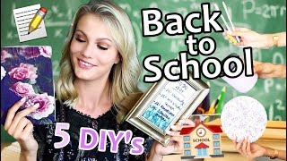 BACK TO SCHOOL DIY SCHOOL SUPPLIES! I Cindy Jane