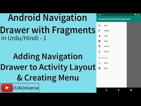Navigation Drawer With Fragments-1 | Creating Menu & Adding Navigation Drawer To Activity Layout
