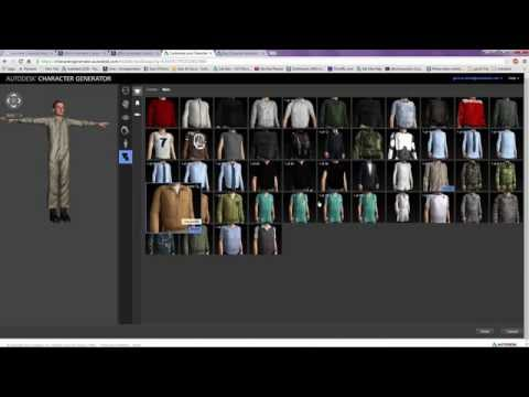 Rigging & Animation - Character Generation - Character Generator to Biped Mocap