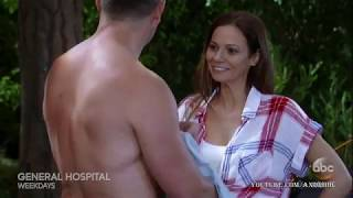 6-15-18 GH Kim Convinces Julian To Take A Skinny Dip General Hospital Promo Preview 6-18-18