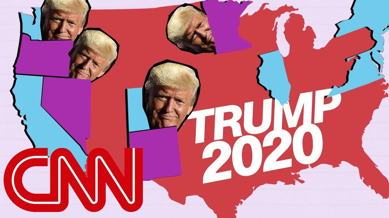 Donald Trump\'s narrow 2020 map