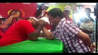 Arm Wrestling competition with Nepali Professional Wrestler