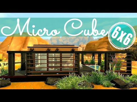 Full download the sims 4 house building modern micro 6x6 for Modern house 6x6