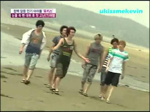 U-Kiss having fun at the beach (ENG)